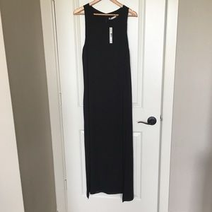 Alice + Olivia black maxi dress sz L NWT